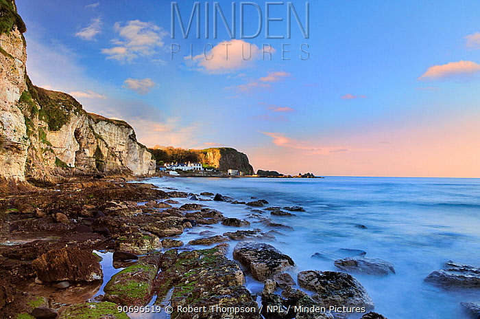 White park bay, North Antrim coastline, Ireland, December 2012  -  Robert Thompson/ npl