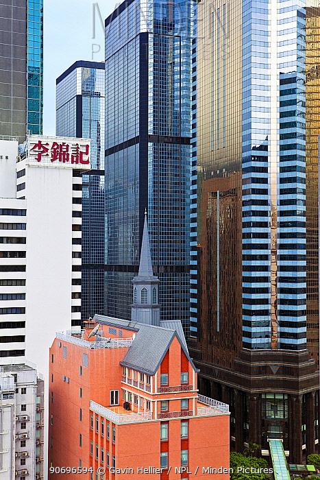 High rise buildings in Wan Chai, Hong Kong Island, Hong Kong, China 2011  -  Gavin Hellier/ npl
