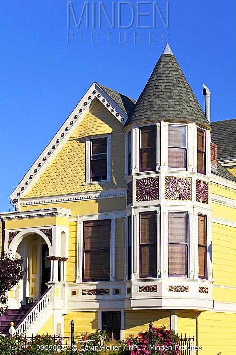 Typical Victorian House front, San Francisco, California, USA 2011  -  Gavin Hellier/ npl