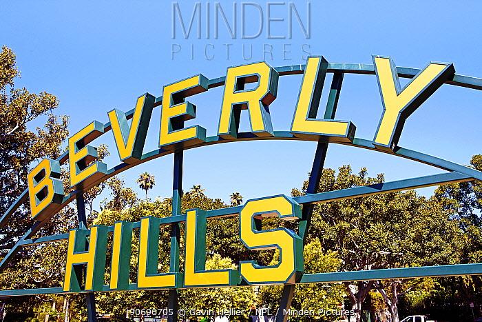 Beverly Hills Sign, Beverly Hills, Los Angeles, California, USA  -  Gavin Hellier/ npl