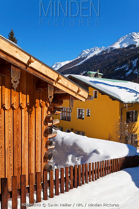 St Jakob village near St Anton am Arlberg, Tirol, Austria, 2009  -  Gavin Hellier/ npl