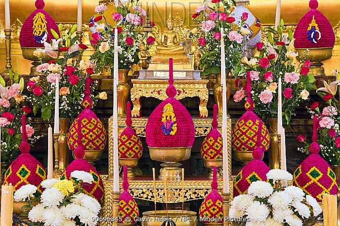 Golden Buddha Statue, Wat Benjamabophit (Marble Temple), Bangkok, Thailand 2010  -  Gavin Hellier/ npl