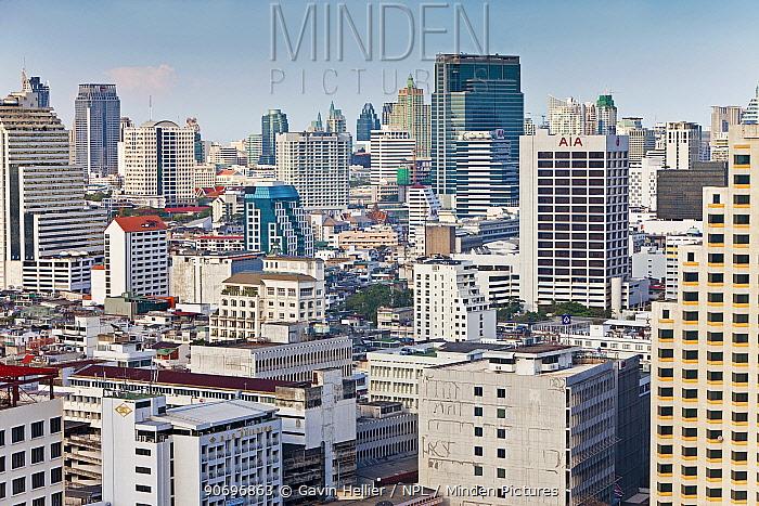 Modern City Skyline looking towards the Sukhumvit district, Bangkok, Thailand, 2010  -  Gavin Hellier/ npl