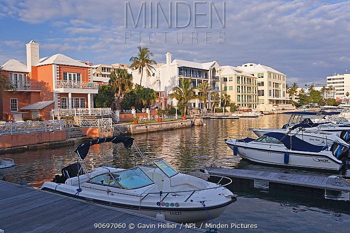 Hamilton Harbour and new luxury office buildings along the waterfront, Hamilton, Bermuda 2007  -  Gavin Hellier/ npl