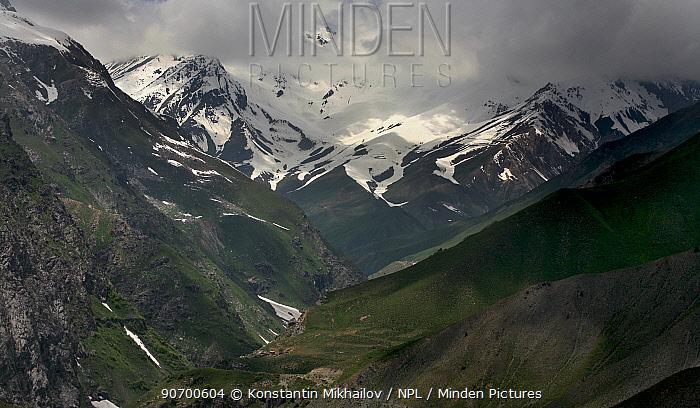 Pass across Gissarsky Range in Pamir-Alai Mountians,  Tajikistan. May 2015.