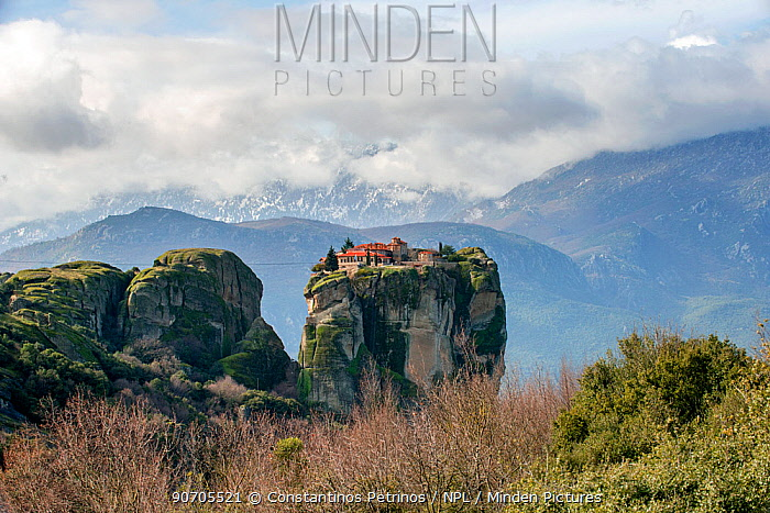 Minden Pictures stock photos - Holy Trinity Monastery, Greek Orthodox ...