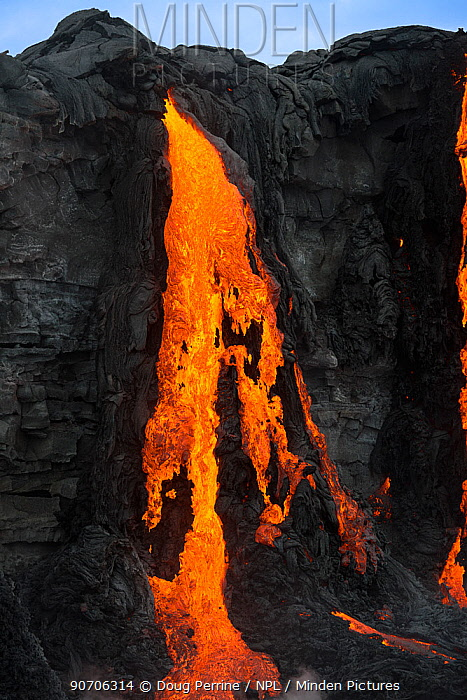 Lava flowing from Kilauea Volcano, Big Island, Hawaiian Islands, USA. December 2012.