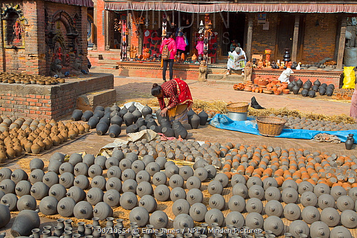 Pottery square, Bhaktapur UNESCO World Heritage Site, Kathmandu Valley, Nepal. November 2014.