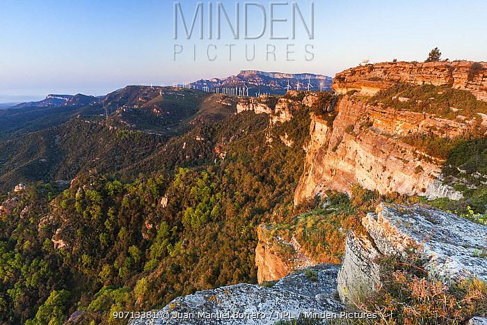 Cliffs in Pradell-La Argentera mountain range Area of Natural Interest, Tarragona, Catalonia, Spain, May 2013.