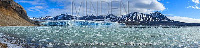 View of a glacier terminus, Svalbard, Norway, June 2006.