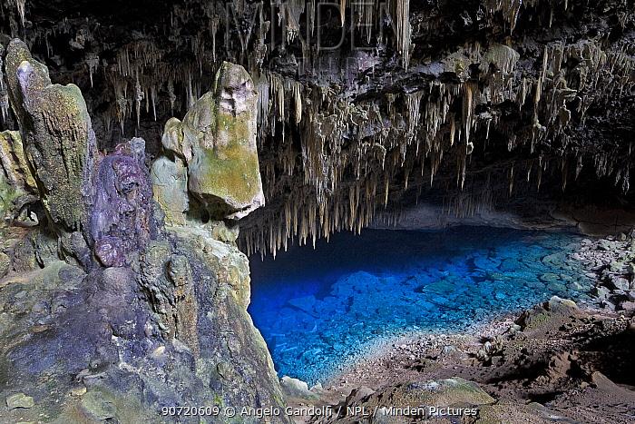 Gruta do Lago Azul, karst cave and lake in Bonito, Mato Grosso do Sul, Brazil, August 2010.