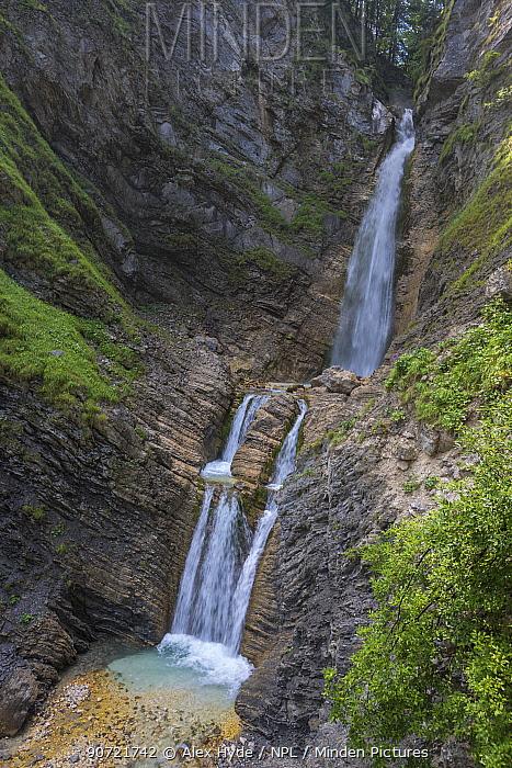 Martuljek Waterfalls, Triglav National Park, Julian Alps, Slovenia, July 2015.