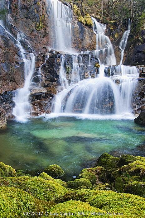 Fafiao Waterfalls, Peneda Geres National Park, Portugal, February 2009.