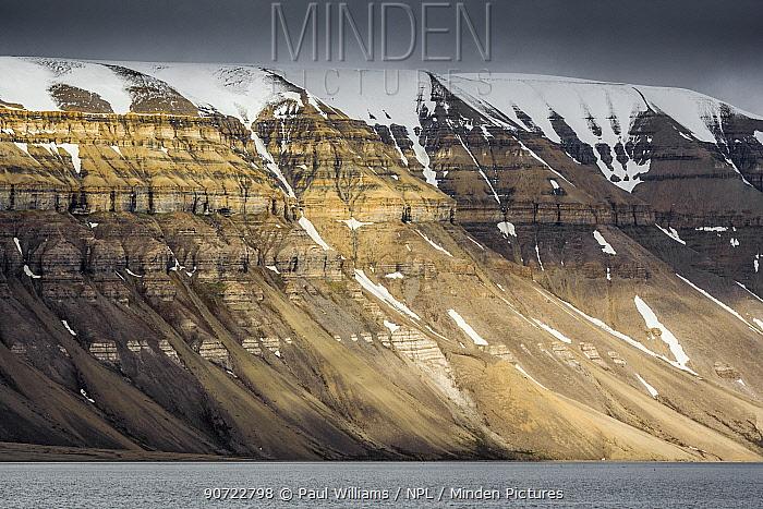 Mountain landscape, Svalbard, Norway, July.
