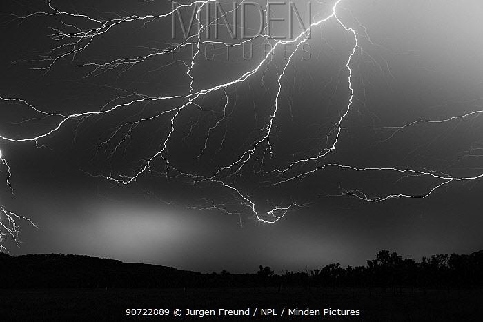 Lightning at night, Katherine, Northern Territory, Australia. January 2013
