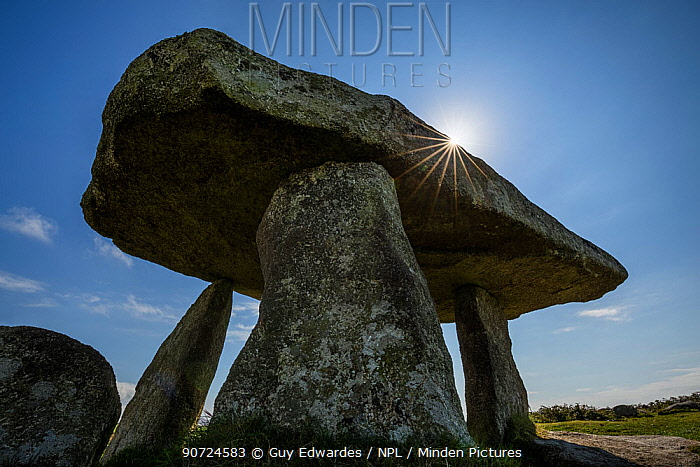 Lanyon Quoit ancient burial chamber, Madron, Cornwall, England, UK. September 2015.