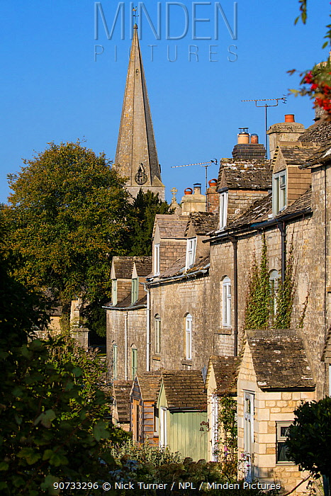 The Cotswolds village of Bisley, Gloucestershire, UK. October 2015.