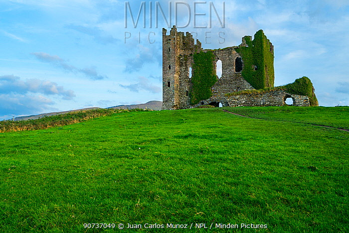 Ballycarbery Castle, Caherciveen, Ring of Kerry, County Kerry, Ireland, Europe. September 2015.