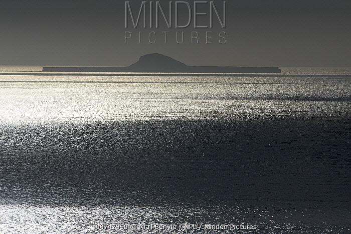 Coastal waters of the Atlantic ocean, looking toward the Treshnish islands, Scotland, UK, May.
