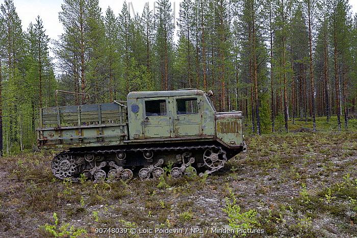 Abandoned military vehicle, Musuem Raatteetie, Finland