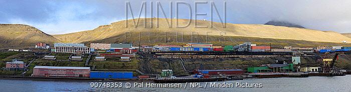 Barentsburg, Russian settlement on Svalbard, Norway, July 2016.