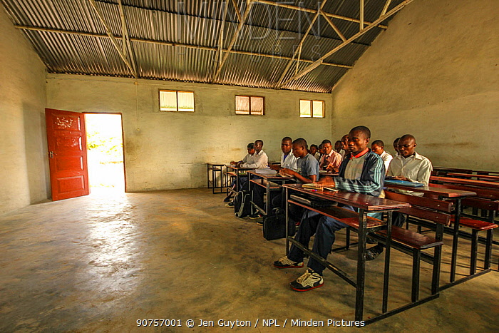 An English class in the secondary school in Mossuril, Mozambique. June 2011
