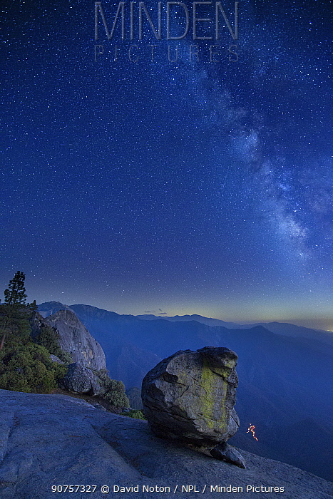 Milky Way over the Sierra Nevada from Hanging Rock, Sequoia National Park, California, USA, September 2014.
