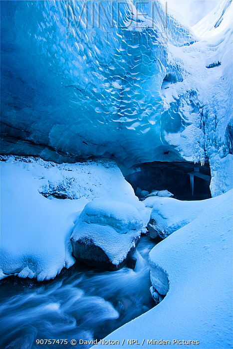 Ice cave in Porsmorck, Iceland, February 2016.