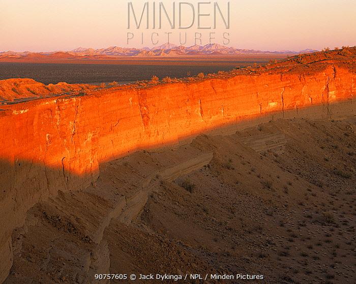 Cerro Colorado Crater at sunset, Biosphere Reserve of Pinacate and Gran Desierto Altar, Sonoran desert, Mexico