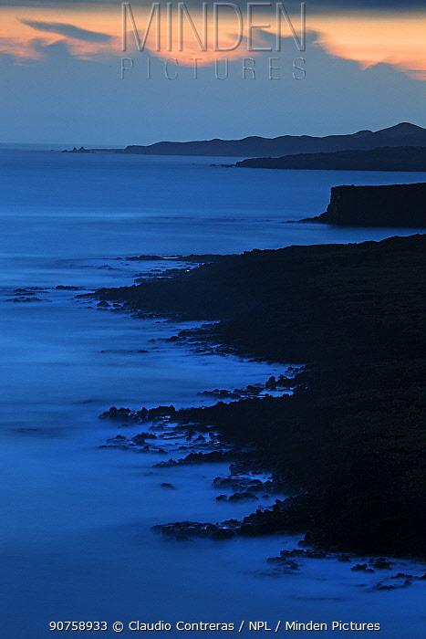 Coastline, Socorro Island, Revillagigedo Archipelago Biosphere Reserve / Archipielago de Revillagigedo UNESCO Natural World Heritage Site (Socorro Islands), Pacific Ocean, Western Mexico, July