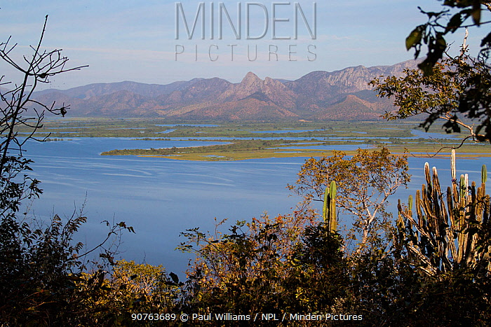 Amolar mountains as seen from Caracara Hill, Matogrossense National Park, Pantanal, Brazil