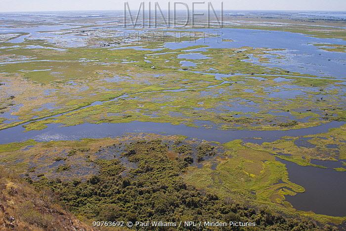 Pantanal as seen from Caracara Hill, Amolar mountains, Matogrossense National Park, Pantanal, Brazil