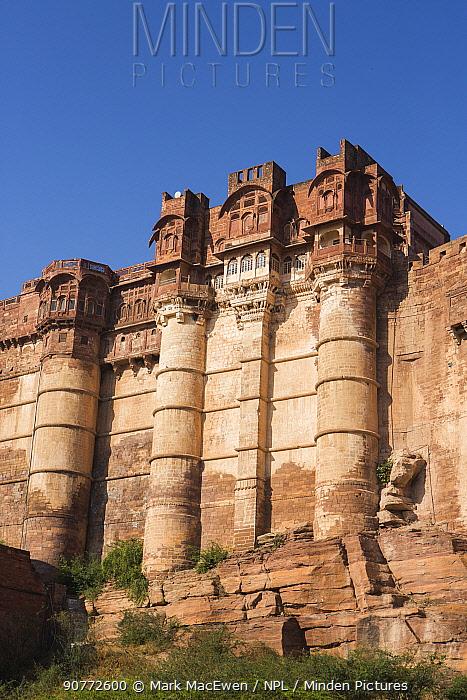 Mehrangarh Fort, located in Jodhpur, Rajasthan, India.