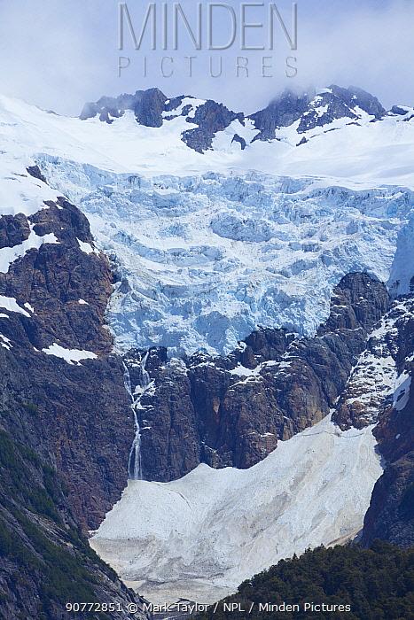 Torrecillas Glacier, Los Alerces National Park UNESCO World Heritage Site, Argentina.