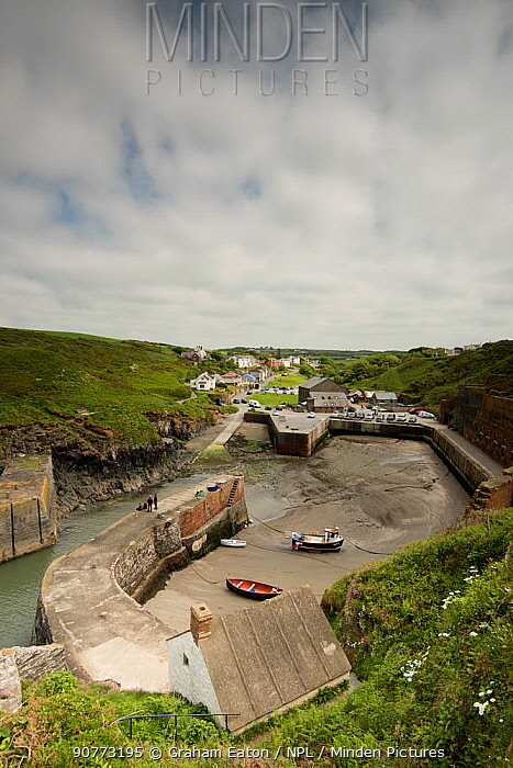 The little harbour at Porth Gain, Pembrokeshire, Wales