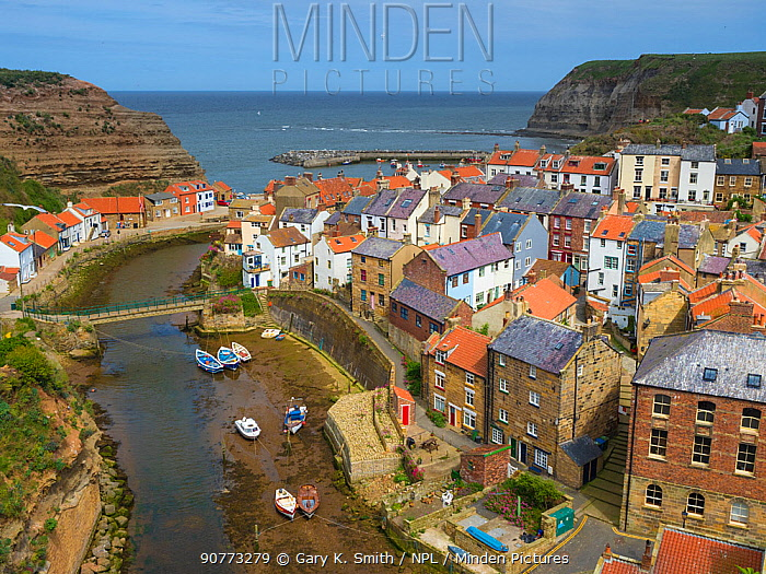 Staithes, North Yorkshire, England, UK. June 2017.