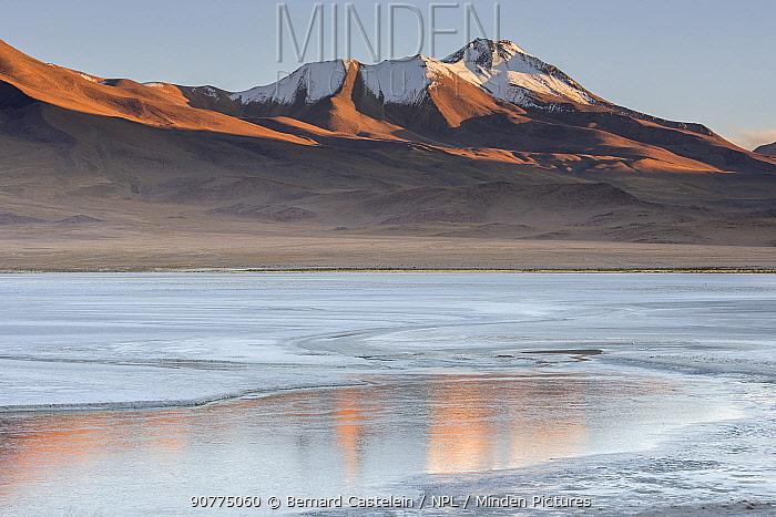 Laguna Hedionda at sunrise, between Polques and Quetena, Altiplano, Bolivia, April 2017.