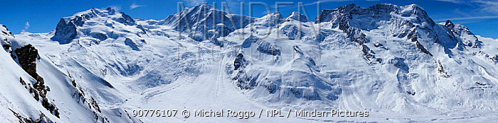 Gorner Glacier Valais Alps, Canton Valais / Wallis, Switzerland April 2013. Photographed for The Freshwater Project