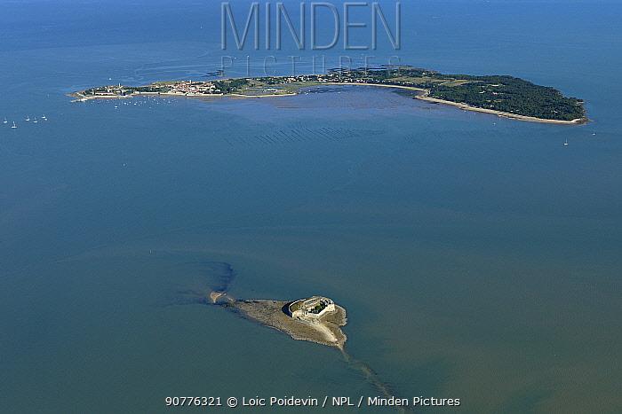 Fort Enet and Ile d'Aix, Charente-Maritime, France, Atlantic Coast. July 2017.