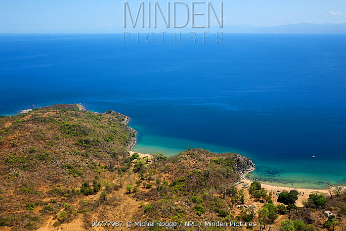Aerial view of Lake Malawi,  Malawi, November 2015. Photographed for The Freshwater Project