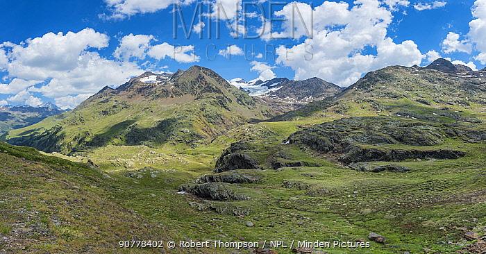 Gavia Pass, Lombardy region, Alps, Italy, June 2017.