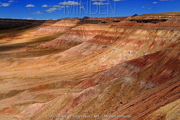 Bentonite hills in Badlands of the Arizona desert, USA, April 2014.