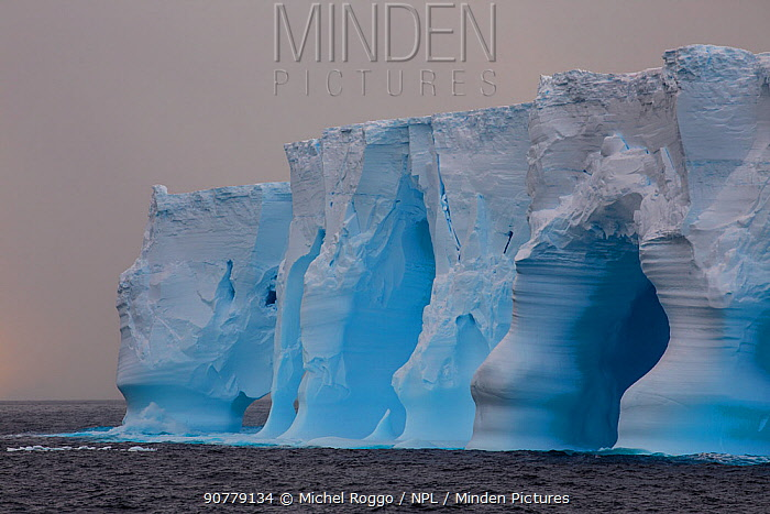 Iceberg, eroded by waves, Ross Sea, Antarctica. February 2017. Photographed for the Freshwater project.