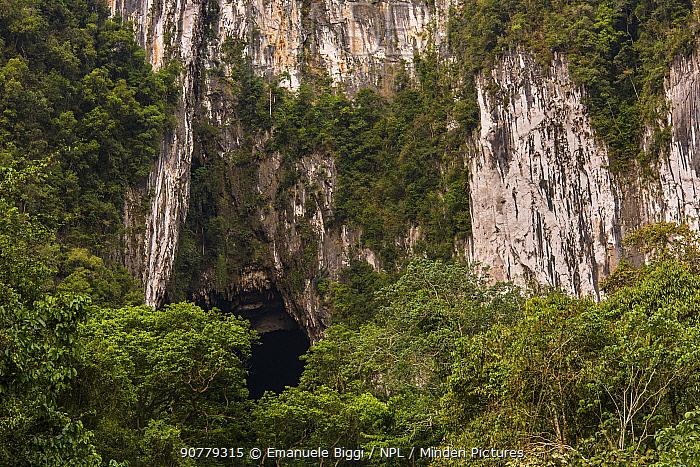 Opening of the Deer Cave, Gunung Mulu National Park, Borneo, Sarawak, Malaysia.