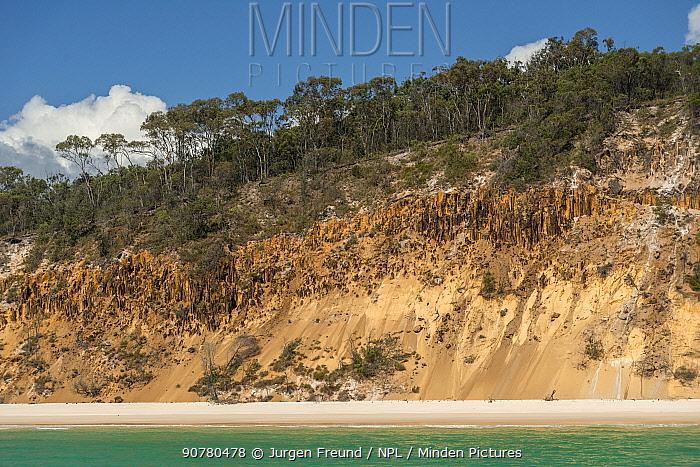 Coast of Fraser Island, Hervey Bay, Queensland, Australia September 2016.