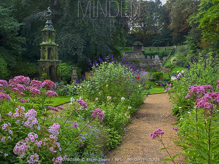 Plantation Garden, a restored Victorian town garden, Earlham Road, Norwich  Norfolk. England, UK, August 2017.