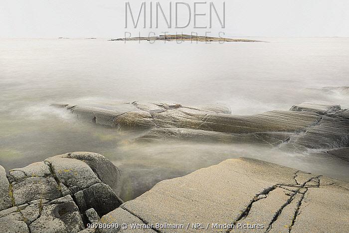 Small rocky islands or skerries,  Stockholm Archipelago, Sweden, August.
