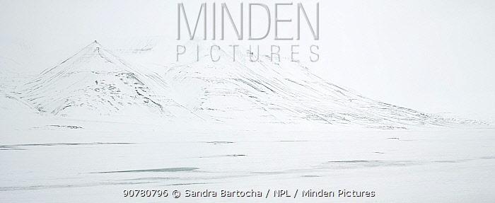 Landscape of Adventdalen, Svalbard, Norway, March 2014.