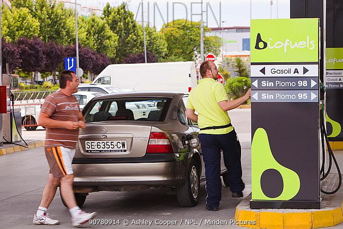 Bio fuel petrol station in Ecija, Andalucia, Spain. May 2011.