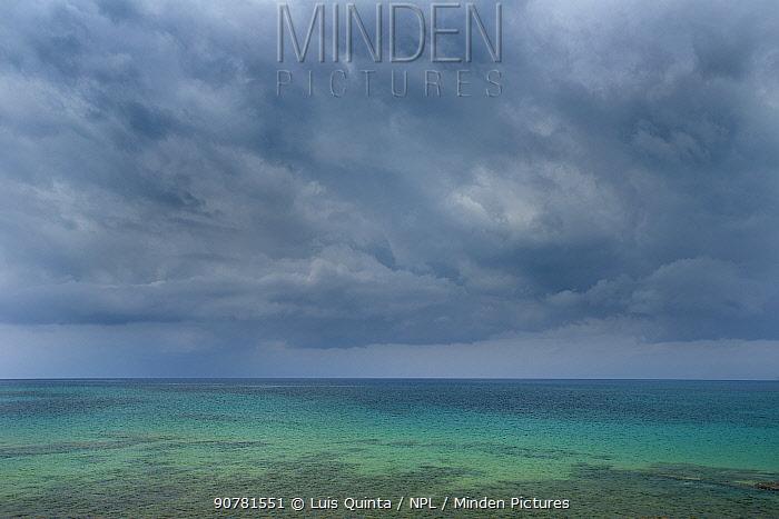 Sea and clouds from Bom Bom beach. Principe Island, UNESCO Biosphere Reserve, Democratic Republic of Sao Tome and Principe, Gulf of Guinea.